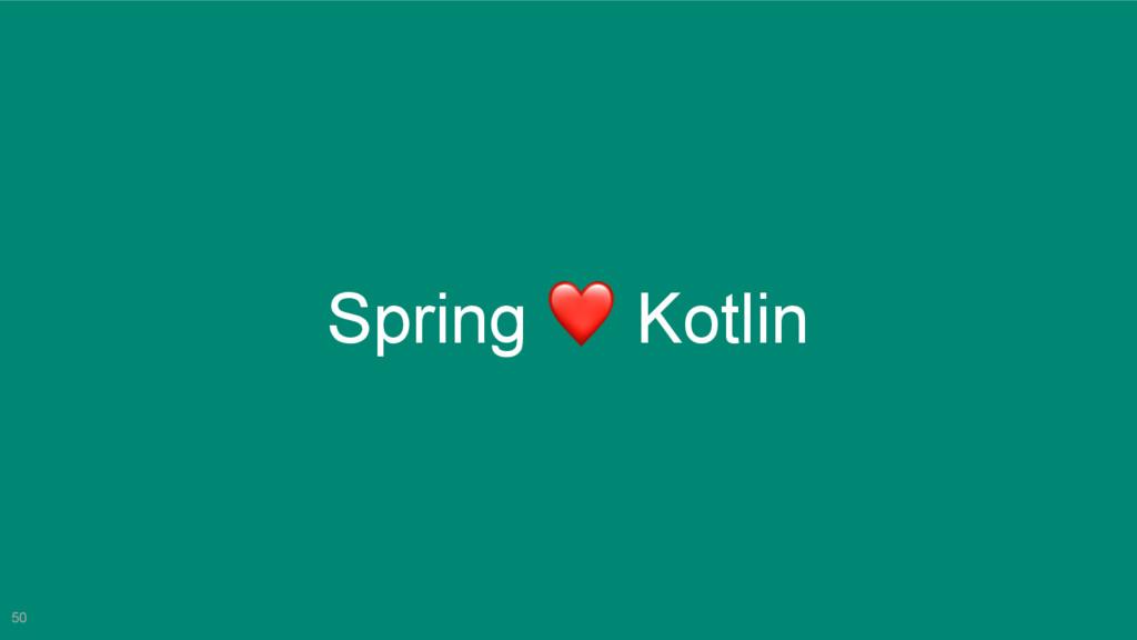 50 Spring ❤ Kotlin