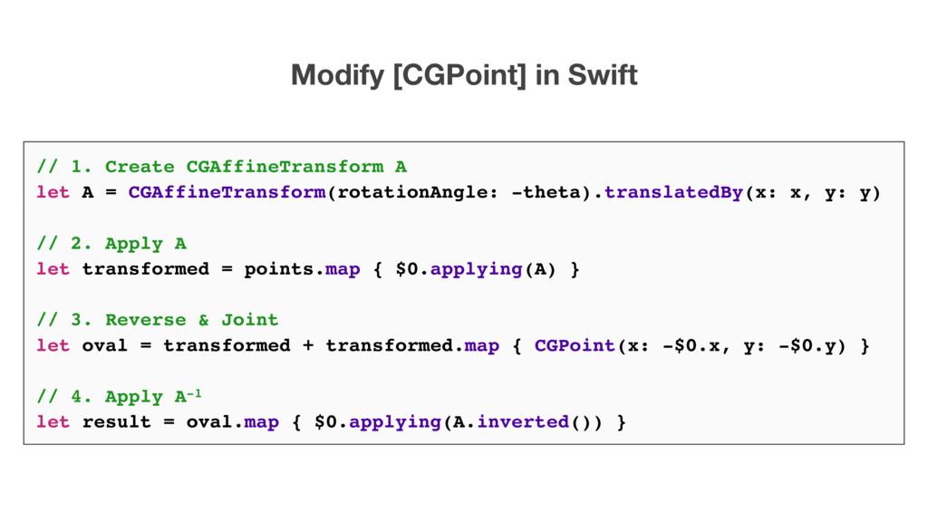 Modify [CGPoint] in Swift // 1. Create CGAffine...