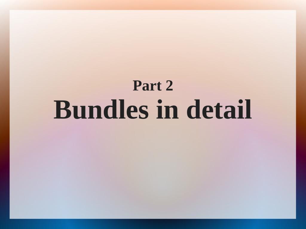 Part 2 Bundles in detail