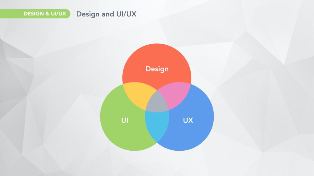 Design and UI/UX DESIGN & UI/UX Design UI UX