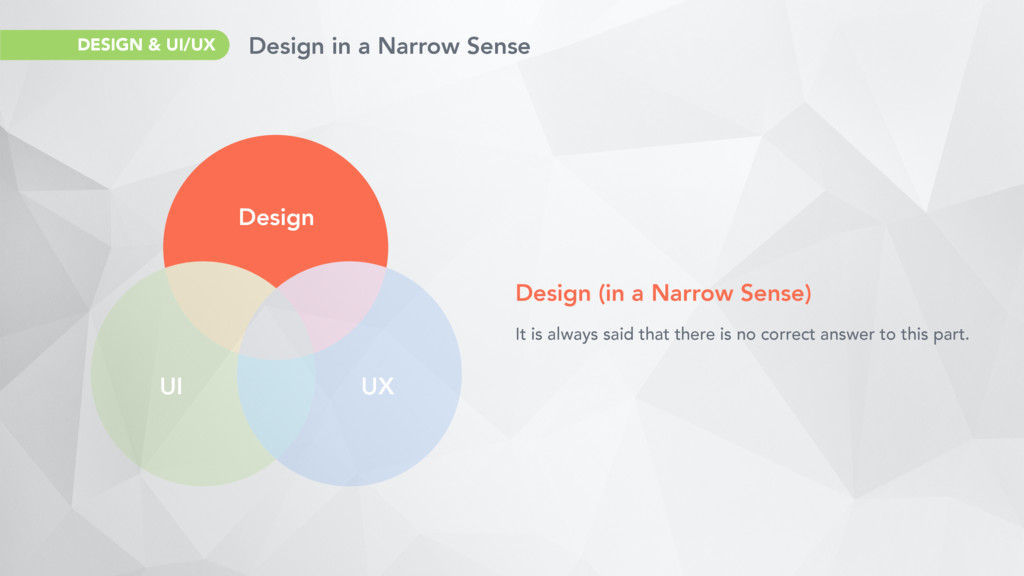 Design UI UX Design (in a Narrow Sense) It is a...