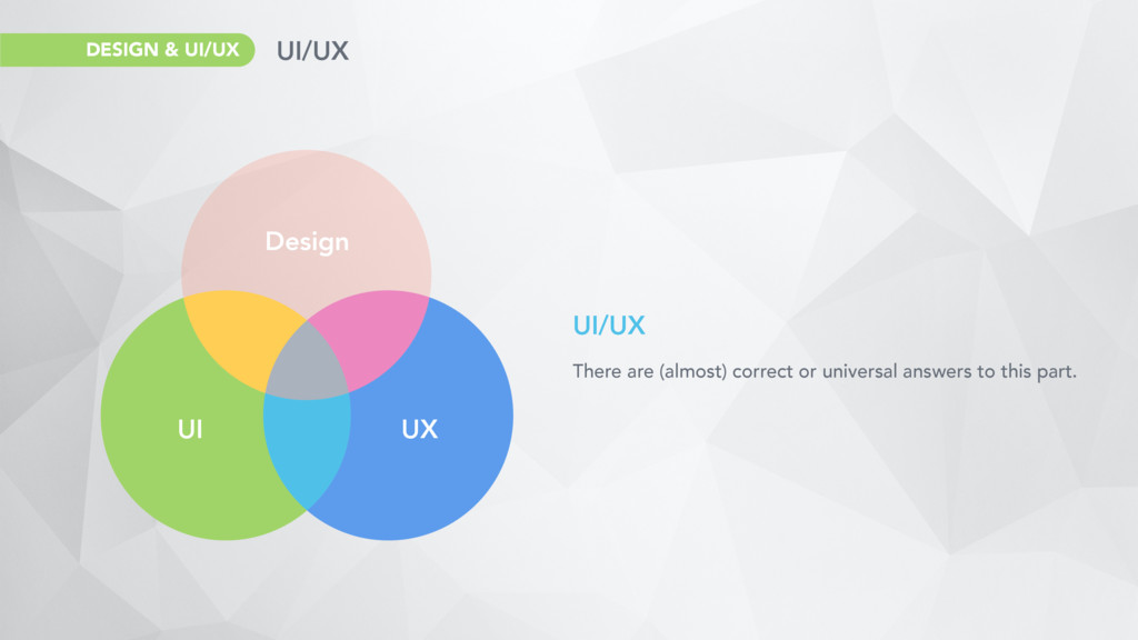 UI/UX There are (almost) correct or universal a...
