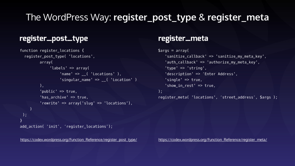 The WordPress Way: register_post_type & registe...