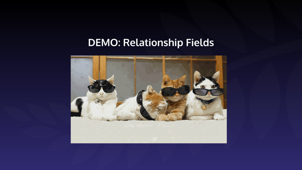 DEMO: Relationship Fields