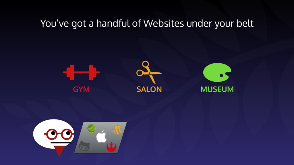 You've got a handful of Websites under your bel...