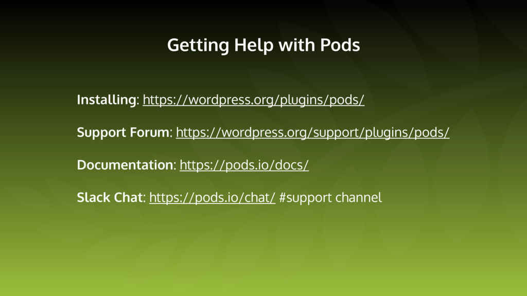 Getting Help with Pods Installing: https://word...