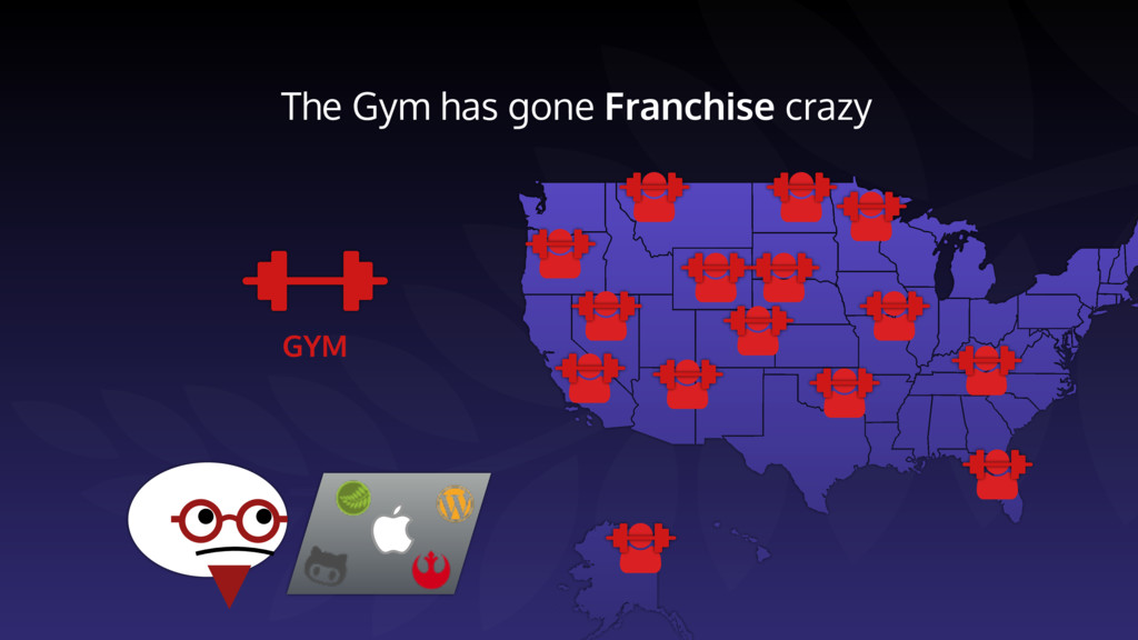 The Gym has gone Franchise crazy GYM