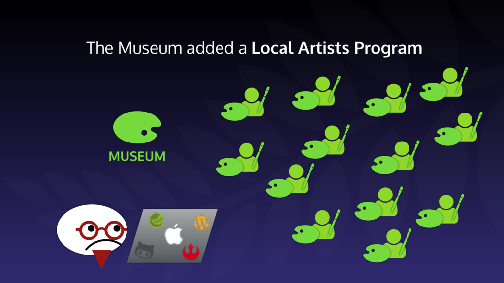 The Museum added a Local Artists Program MUSEUM
