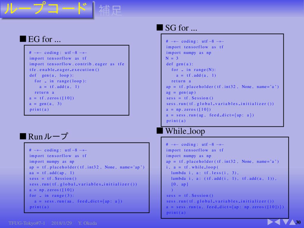30 EG for ... # −∗− coding : utf −8 −∗− import ...