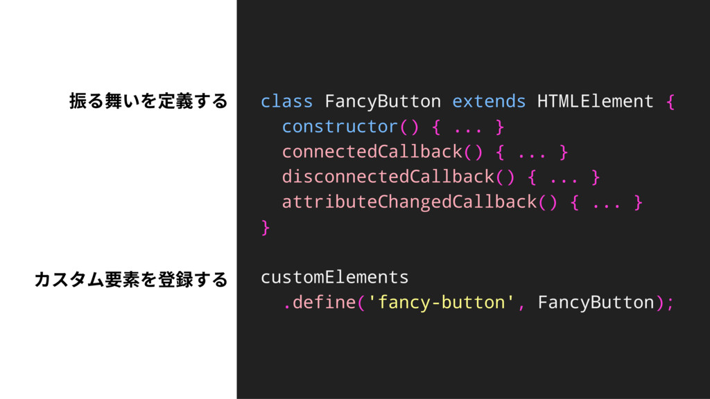 class FancyButton extends HTMLElement { constru...
