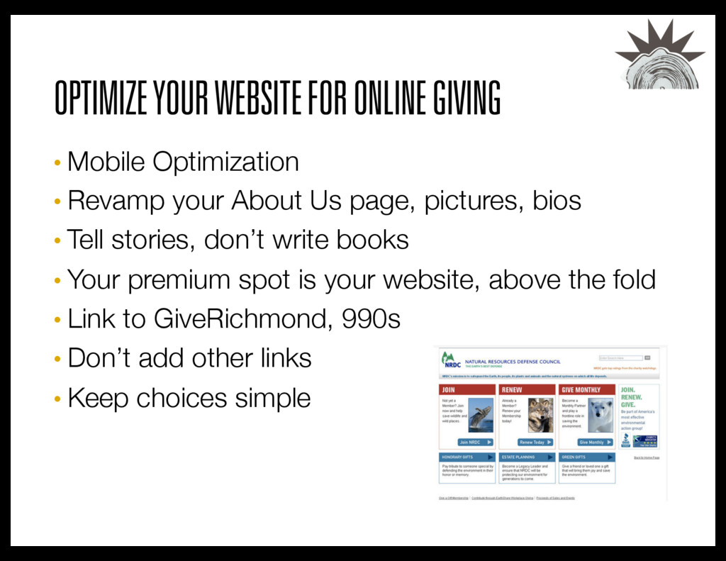 OPTIMIZE YOUR WEBSITE FOR ONLINE GIVING • Mobil...
