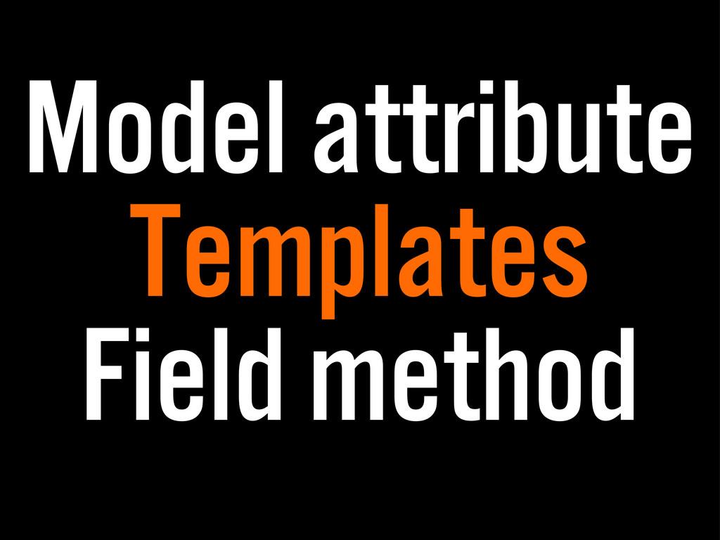 Model attribute Templates Field method