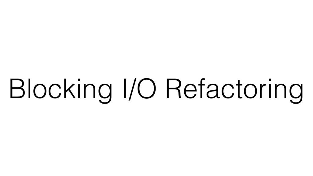Blocking I/O Refactoring