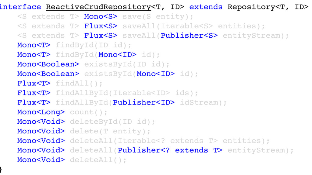 interface ReactiveCrudRepository<T, ID> extends...