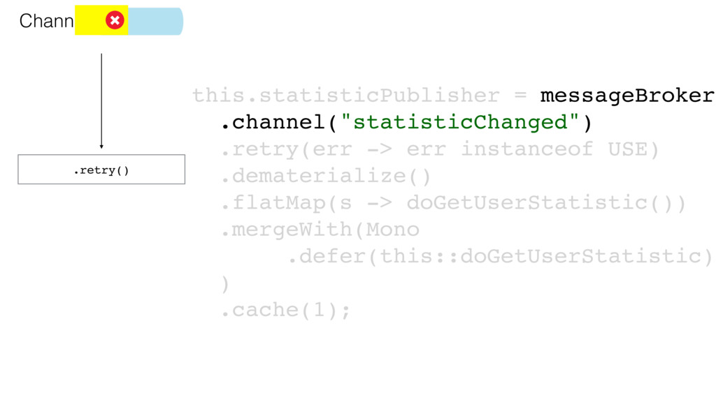 .retry() Channel this.statisticPublisher = mess...