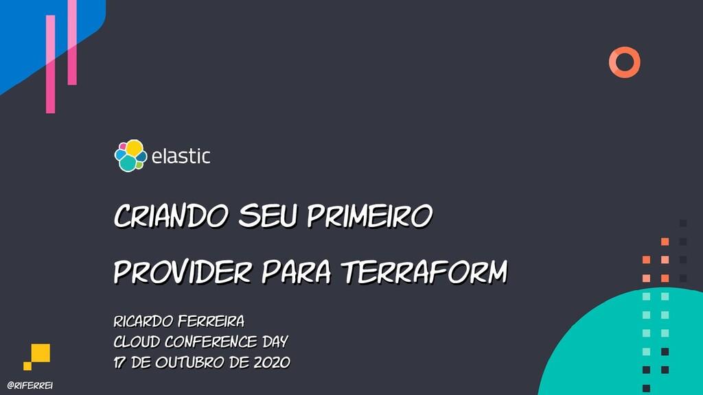 @riferrei Ricardo Ferreira Cloud Conference day...