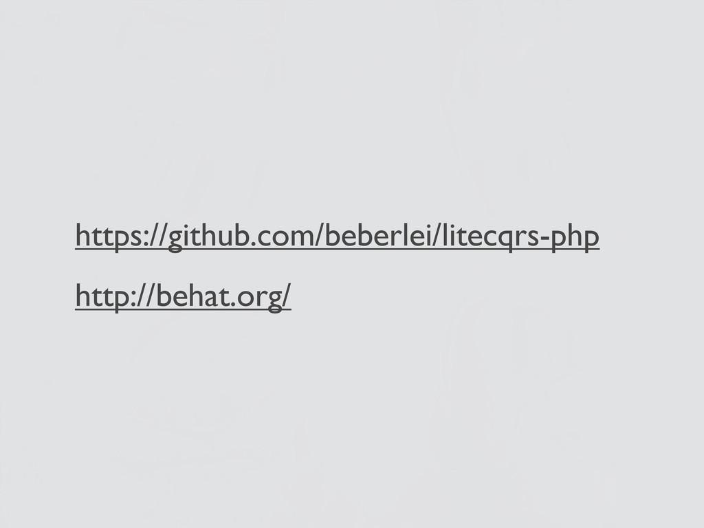 https://github.com/beberlei/litecqrs-php http:/...