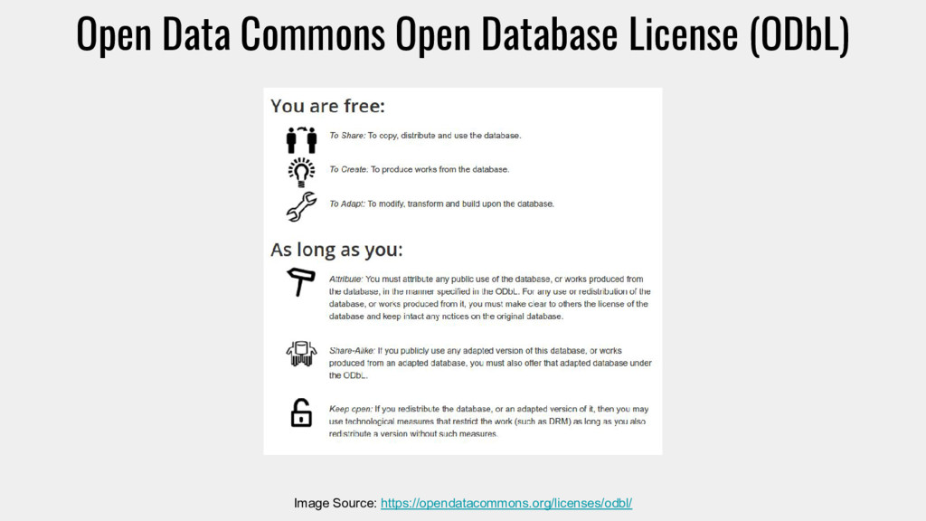 Open Data Commons Open Database License (ODbL) ...