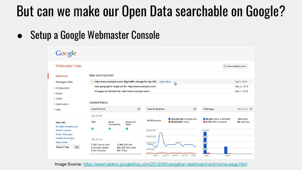 But can we make our Open Data searchable on Goo...