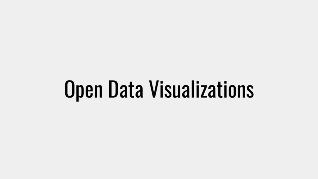 Open Data Visualizations