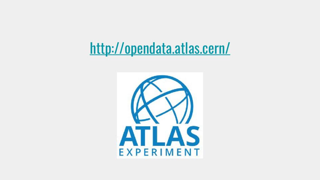 http://opendata.atlas.cern/
