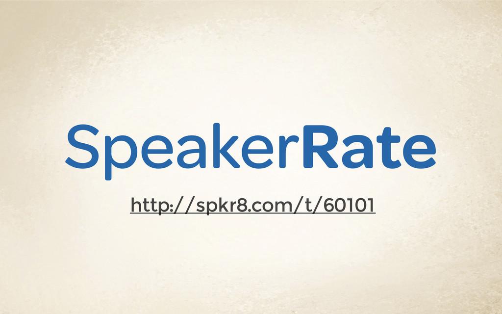 SpeakerRate http://spkr8.com/t/60101