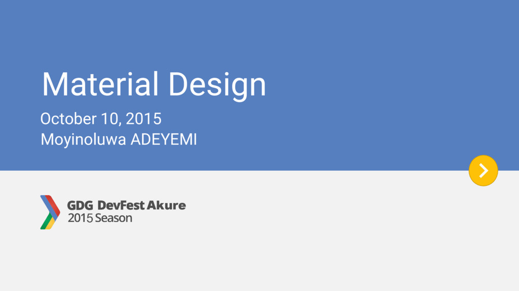 Material Design Moyinoluwa ADEYEMI October 10, ...