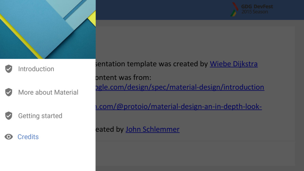 This Material presentation template was created...