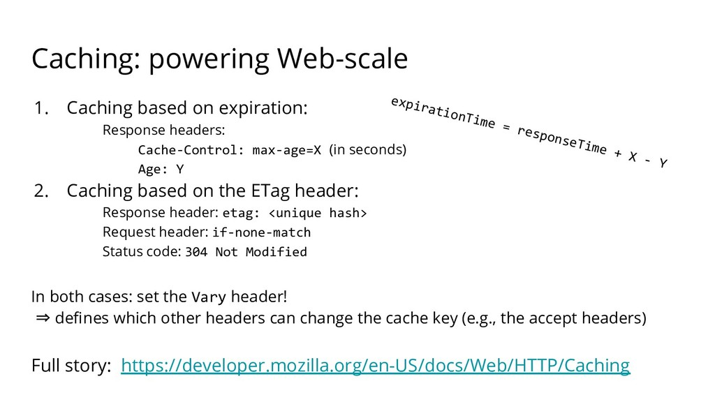 Caching: powering Web-scale 1. Caching based on...