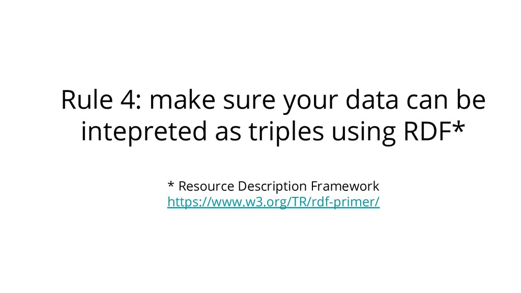 Rule 4: make sure your data can be intepreted a...