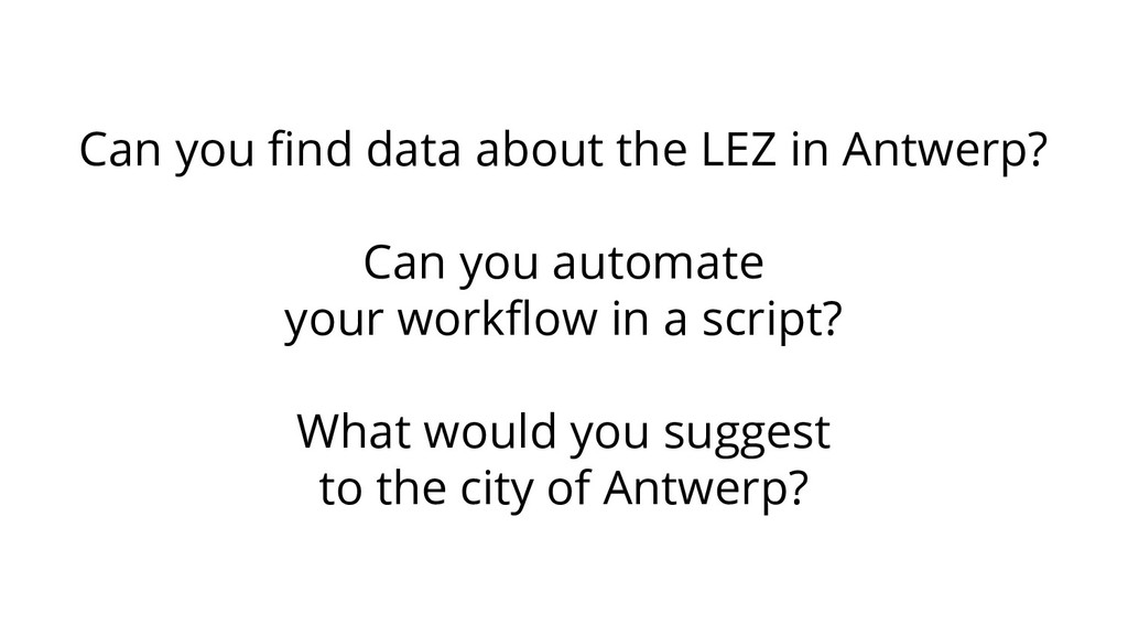 Can you find data about the LEZ in Antwerp? Can ...