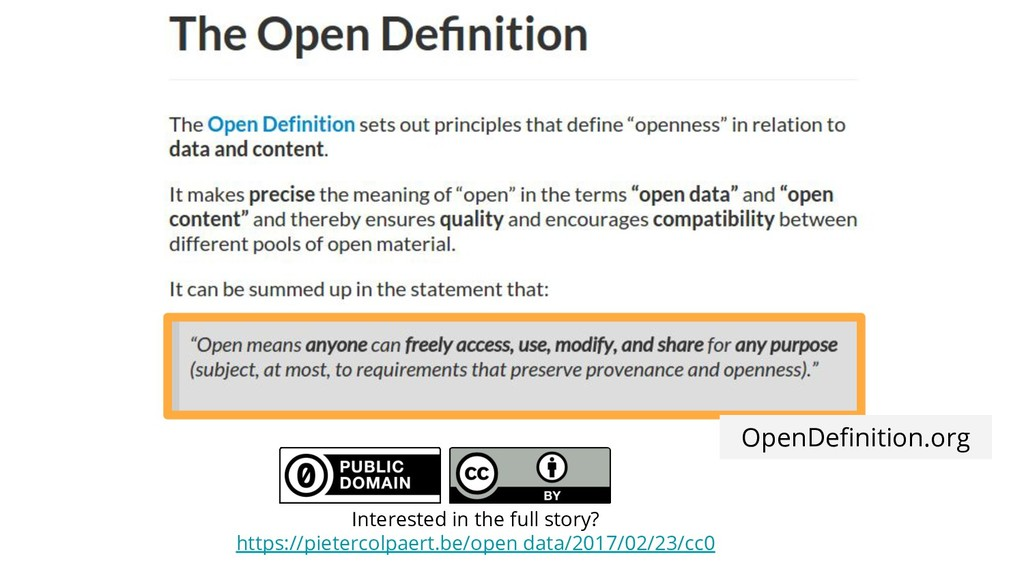 OpenDefinition.org Interested in the full story?...
