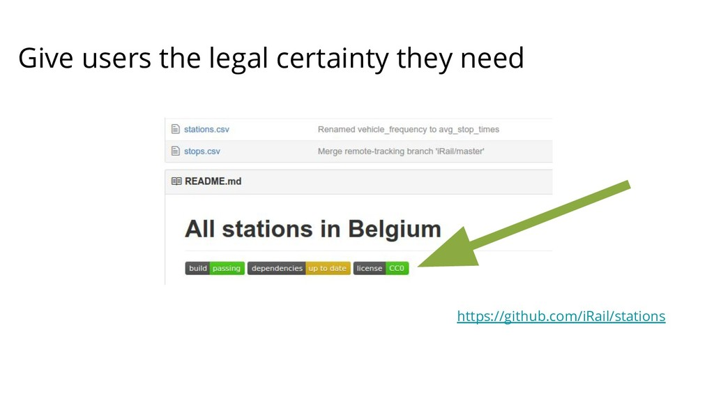 Give users the legal certainty they need https:...