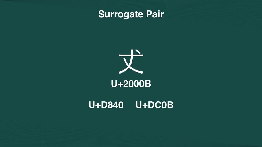 Surrogate Pair 㘏 U+2000B U+D840 U+DC0B