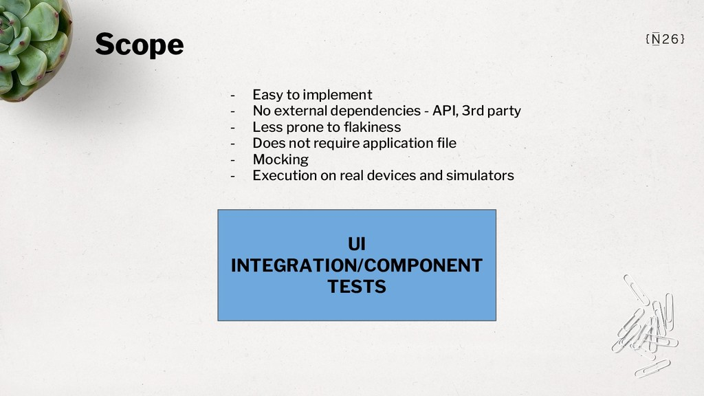 Scope UI INTEGRATION/COMPONENT TESTS - Easy to ...