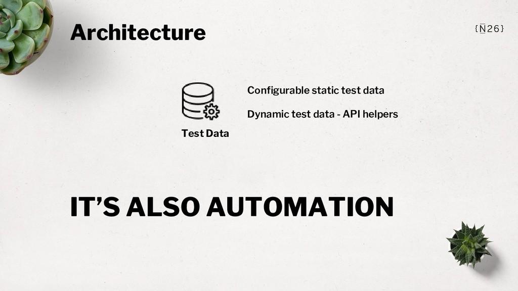 Architecture Test Data Configurable static test...