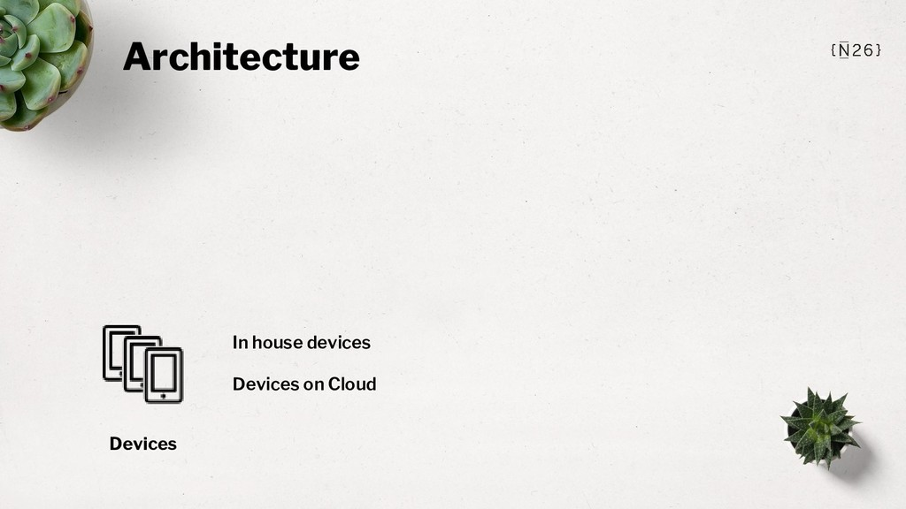 Architecture Devices In house devices Devices o...