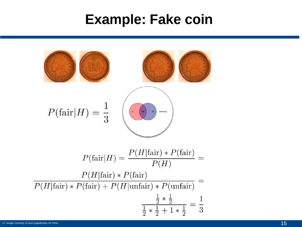 15 Example: Fake coin CC image courtesy of user...