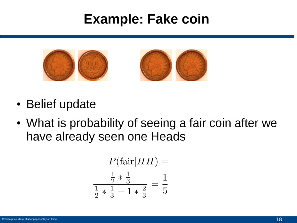 18 Example: Fake coin CC image courtesy of user...