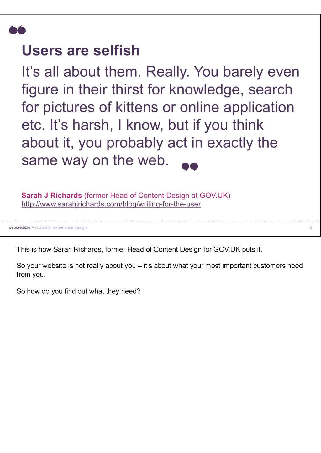 This is how Sarah Richards, former Head of Cont...