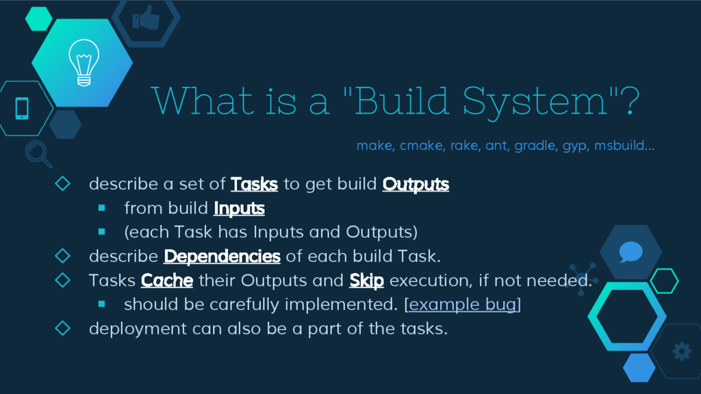 """What is a """"Build System""""? ◇ describe a set of T..."""