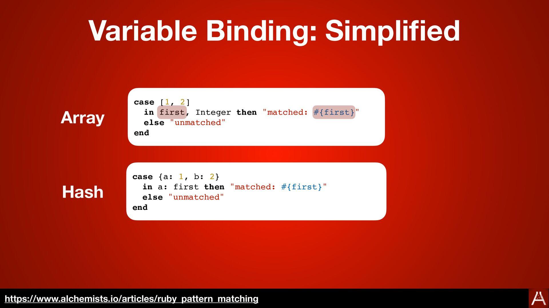 Variable Binding: Simpli fi ed https://docs.rub...