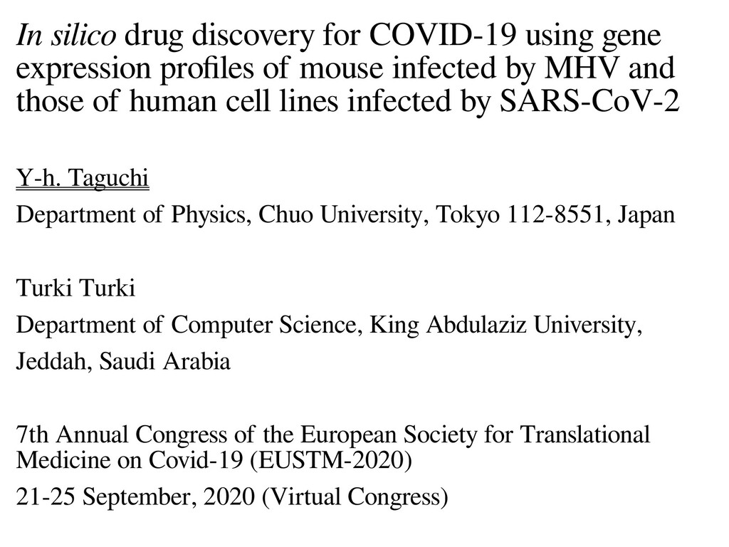 In silico drug discovery for COVID-19 using gen...