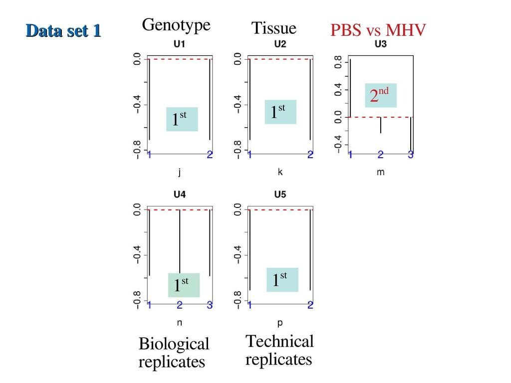 Data set 1 Data set 1 Genotype Tissue PBS vs MH...