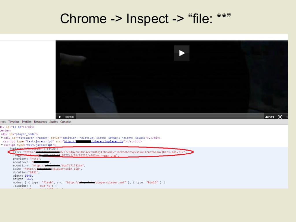 "Chrome -> Inspect -> ""file: **"""