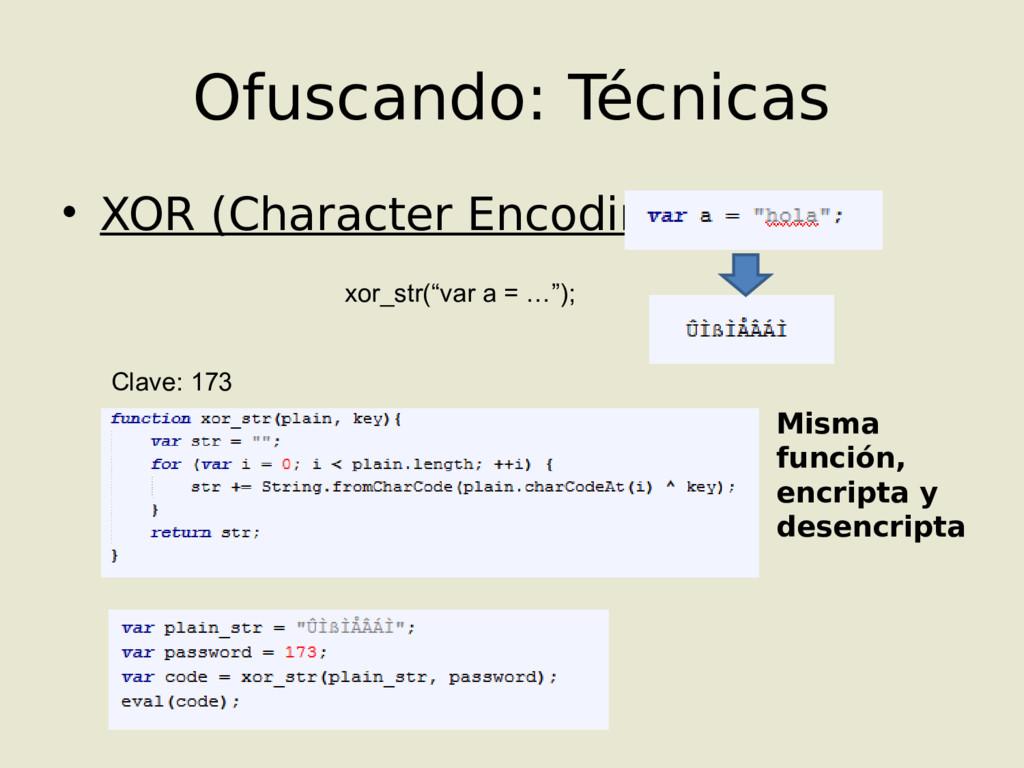 • XOR (Character Encoding) Ofuscando: Técnicas ...