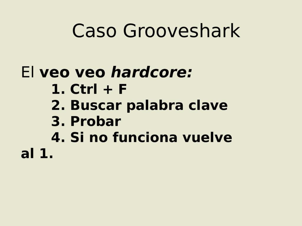 Caso Grooveshark El veo veo hardcore: 1. Ctrl +...