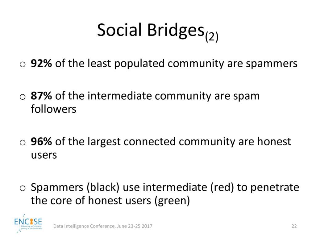 Social Bridges(2) Data Intelligence Conference,...