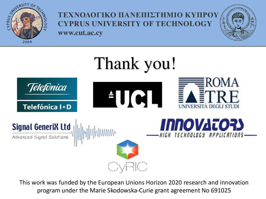 Thank you! ΤΕΧΝΟΛΟΓΙΚΟ ΠΑΝΕΠΙΣΤΗΜΙΟ ΚΥΠΡΟΥ CYPR...