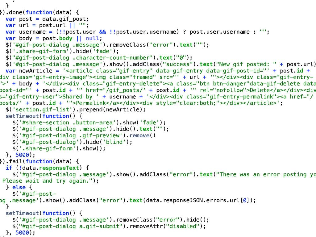 } } }).done(function(data) { var post = data.gi...